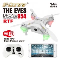 Mini FQ777 954 The Eye RC Quadcopter Drone RTF Wi-Fi FPV Real Time Transmission white FQ777-954
