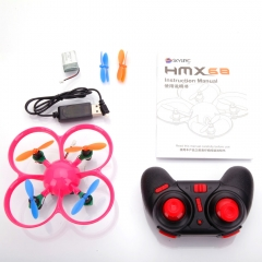 HMX68 (A) 2.4G 4CH 6-Axis Gyro Mini Drone RC Quadcopter Mode 2 RTF Flight Pink pink HMX68(A)