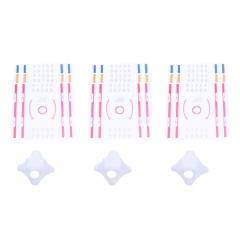 3pcs PVC Hood + 9pcs Sticker for Boldclash F-01 Tiny Whoop FPV RC Drone as picture one size