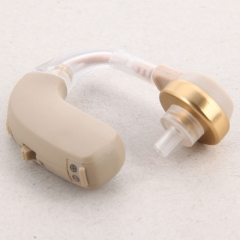 Adjustable Sound Voice Hearing Aid Amplifier Behind Ear with 4 Earplug as picture