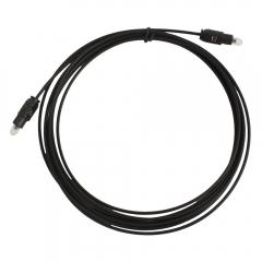 New 10Ft Digital Audio Optical Fiber Optic 3m Toslink Cable Black black one size
