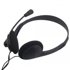 3.5mm Jack Stereo Headset Headphone with Microphone For Laptop PC Notebook black