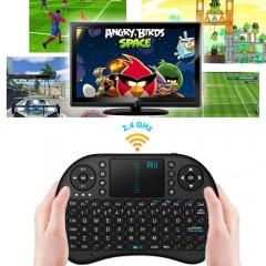 Rii i8 2.4GHz Mini Classic Wireless Keyboard Touchpad for PC Laptop PC Durable black mini