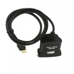 New USB 2.0 to IEEE-1284 36 Pin Parallel Printer Cable Adapter black one size