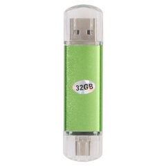 32G 32GB Micro USB/USB 2.0 FLASH DRIVE OTG Smart Phone PC Memory Stick 2 Port green one size 32gb
