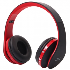 Wireless Stereo Bluetooth Headphone Headset Sport Earphone For Huawei Xiaomi black&red