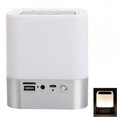 Hot MUSKY DY 27 Mini HiFi Bluetooth Stereo Speaker w/Mic FM Clock Alarm LED AUX white