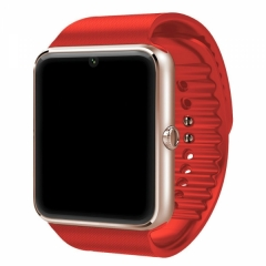 GT08 SIM Card GSM GPRS Smart Sport Tracker Bluetooth Watch for IOS Android Red red one