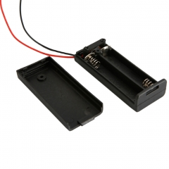 """New 2 AAA 3A Battery 3V Holder Box Case with ON/OFF Switch Black +6"""" Leads"""