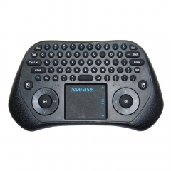 2.4G Measy GP800 Wireless Touchpad Air Mouse Keyboard for Android PC Smart TV black