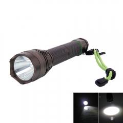 Upgraded 4800LM L2 5 Modes Waterproof Wide Illumination Range Flashlight with Strap black one