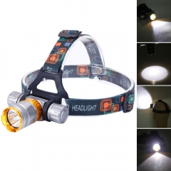 XML-T6 Rechargeable LED Underwater Waterproof Diving Headlamp + Charger + 18650 silver one