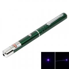 1mw 405nm Blue & Purple Laser Beam Single-point Laser Pointer Pen blue & purple 1w
