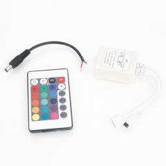 24 Key IR Remote Controller Box DC12V 2A for 5M LED Light Strip White white one size no