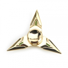 Fly Cutter Three Leaves Aluminum EDC Alloy Hand Spinner Gadget Focus golden one size