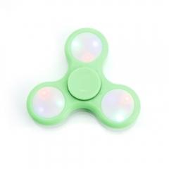 LED Flashlight Plastic Reduce Stress Hand Spinner Gadget Finger Spinner green one size