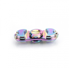 Two Leaves Alloy Zinc Hand Spinner Gadget Finger Spinner Fidget Focus colorful one size