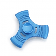 Aluminium Three Leaves Alloy EDC Focus Finger Spinner Hand Spinner Gadget blue