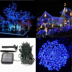 New 60 LED String Solar Light Garden Outdoor Party Fairy Tree Deco Lawn Lamp blue one