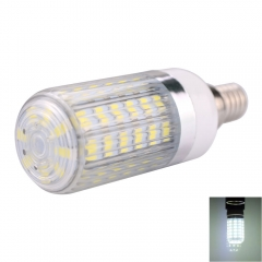 E14 10W 56 x 5730SMD LED 1000lm 6000-6500K White Light LED Corn Bulb with Striped Lampshade white one size 10w