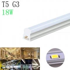 T5 G3 3.9FT 18W Milky Lens 3000K Warm White Light Integrated LED Light Tube warm white one size 18w