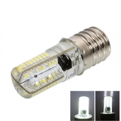 100-120V New E17 4W SMD3014 80LED Dimmable Silicone Corn Light Pure White Home white one size 4w