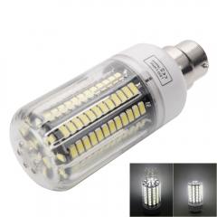 B22 12W 136-LED 5733SMD 6000-6500K White LED Corn Lamp with Lampshade 110V white one size 12w
