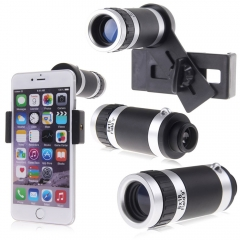 8x Zoom Telephoto Optical Camera Lens Telescope For iphone 7 plus 6 Samsung s6 black one 3M