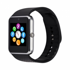 Bluetooth Smart Wrist Watch SIM Phone Mate for iPhone IOS Android Samsung silver one