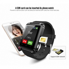 Smart watch Bluetooth Touch Screen Anti lost Answer and Dial the Phone black one