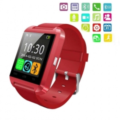 Smartwatch Bluetooth Touch Screen Anti lost Answer and Dial the Phone red one size