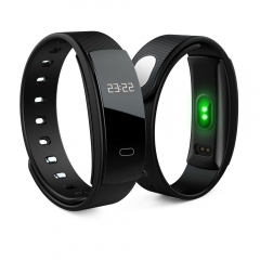 QS80 Blood Pressure Heart Rate Monitor Bluetooth Smart Sport Bracelet black one