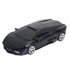 DC 12V 360°Detection Moving Speed Measurement USB Car Radar Detector for Lamborghini Black