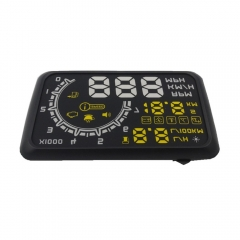 "W02 5.5"" OBD II Car Head-up Display (HUD) with Speed/Speed Limit Reminder"