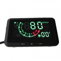 New W1 HUD OBD MPH Head Up Display With OBD2 Interface Plug & Play Speed Gauge