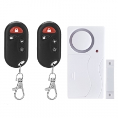 Magnetic Contacts Door Window Entry Alarm System with Remote Control Quality black & white one size