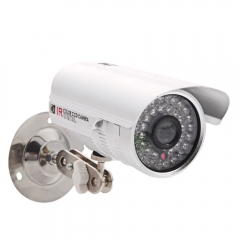 1200TVL CMOS HD Home Outdoor Waterproof CCTV Security Camera IR Cut System PAL silver one size