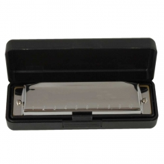 Special Swan Harmonica 10 Holes Key Of C Silver w/ Case for Beginner