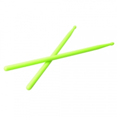 1 x Pair of Lightweight 5A Practical Light Green Nylon Material Drum Sticks