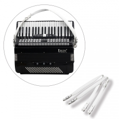 Thick Accordion White Leather Shoulder Straps for Accordions