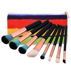 Pro 8pcs Kabuki Makeup Brushes Set Foundation Powder Brush Blusher Kit with Bag as picture