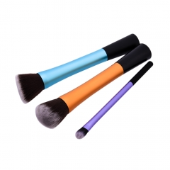 pcs Professional Long Handle Nylon Hair Cosmetic Makeup Brushes Kit Three Colors Handle as picture