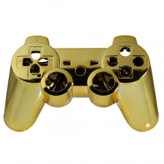 Wireless Skin Case Prote Controller Shell Case Cover for PS3 Chrom Plating golden