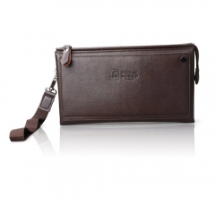 9087-2 Business Style Men Leather Handbag brown one