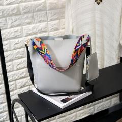 Women Lady PU Leather Shoulder Handbag Tote Purse Messenger Satchel Hobo Bag gray one