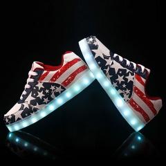 KSD Cosmopolitan Homme Femmes Sneakers USB LED Lumière Lumineux Chaussures Shoes as picture 38