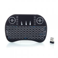 Mini Backlight 2.4G Wireless Keyboard Remote Control Touchpad Rechargeable black one size