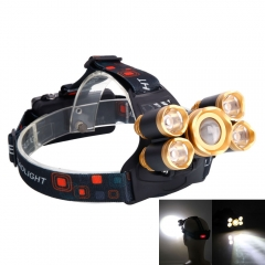 80000LM Zoomable 5x XML T6 LED Rechargeable 18650 Headlamp Head Light Torch as picture one