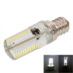 E12 4W 80*SMD3014 LED 6000-6500K Pure White Light Dimmable Silicone Corn Light white one size 4w