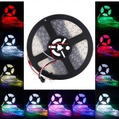 WS2812B 300-LED SMD5050 RGB Waterproof Flexible LED Light Strip 5V White PCB rgb 500cm Light Strip